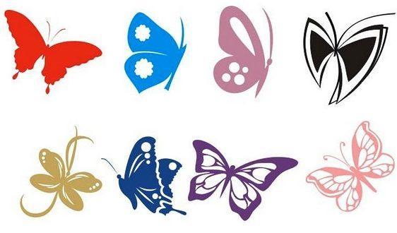 На стену трафарет бабочки своими руками