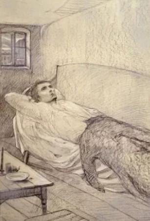 Иллюстрация 1 Родион Раскольников думает