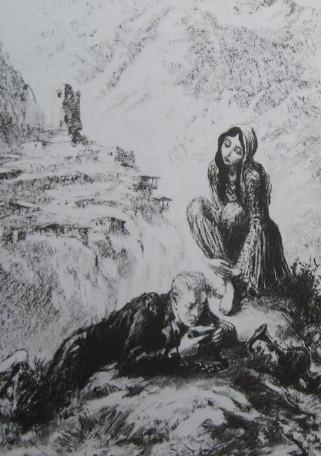 """Иллюстрации 11 из поэмы """"Кавказский пленник"""" А.С. Пушкин"""