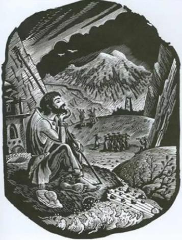 """Иллюстрации 6 из поэмы """"Кавказский пленник"""" А.С. Пушкин"""