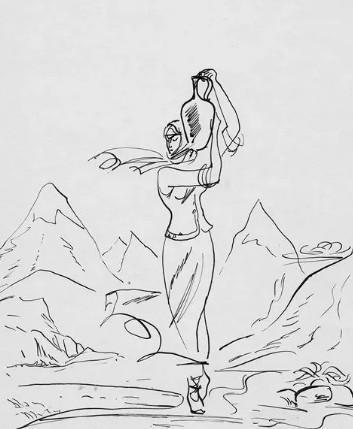 """Иллюстрации 3 из поэмы """"Кавказский пленник"""" А.С. Пушкин"""