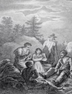Иллюстрация из поэмы Братья разбойники А.С. Пушкин