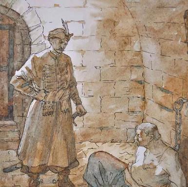 """Иллюстрация 3 из поэмы """"Полтава"""""""