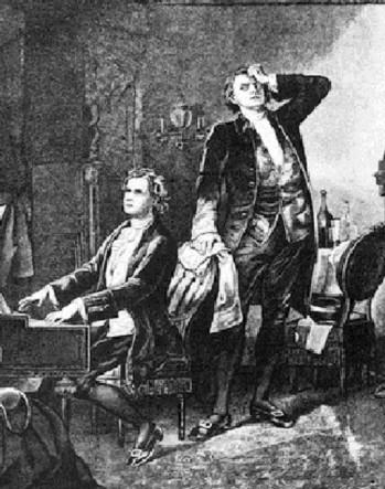 Иллюстрация Моцарт и Сальери