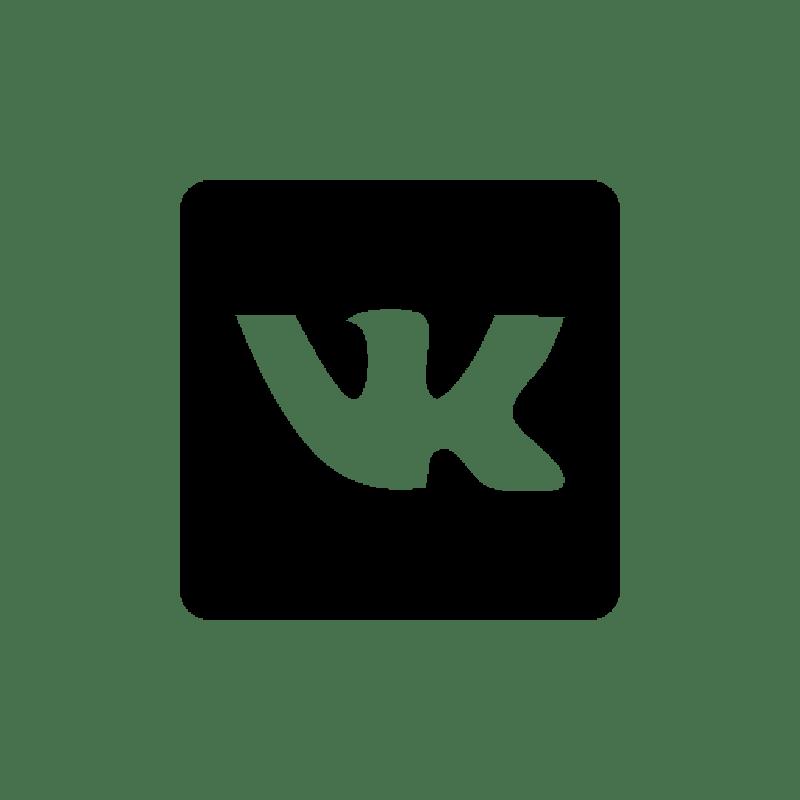 Чёрный значок вк png в квадрате