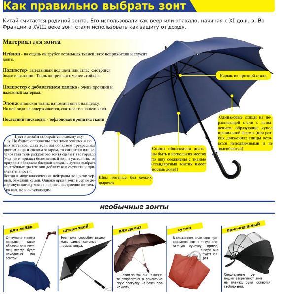 Советы по покупке зонта