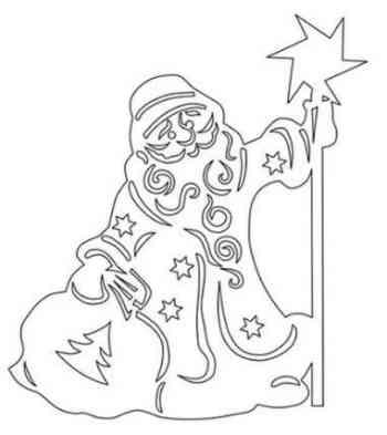 Рисунок-новый год на окно №52