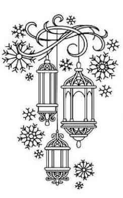 Рисунок-новый год на окно №11