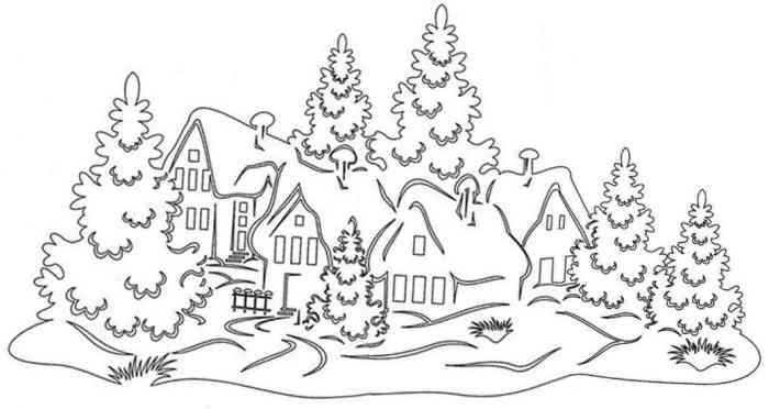 Рисунок-новый год на окно №26