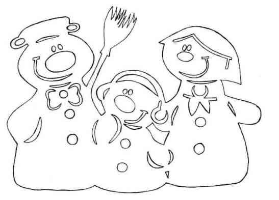 Рисунок-новый год на окно №44