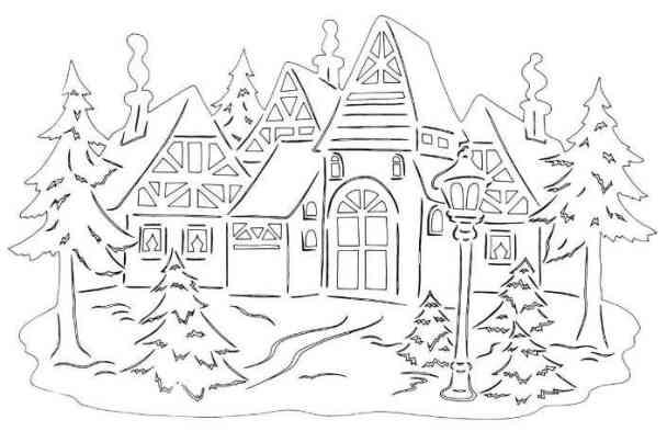 Рисунок-новый год на окно №48